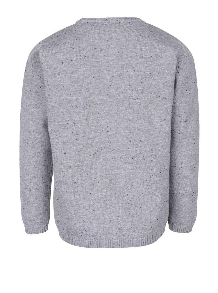 Šedý klučičí svetr s kapsou name it Sinis