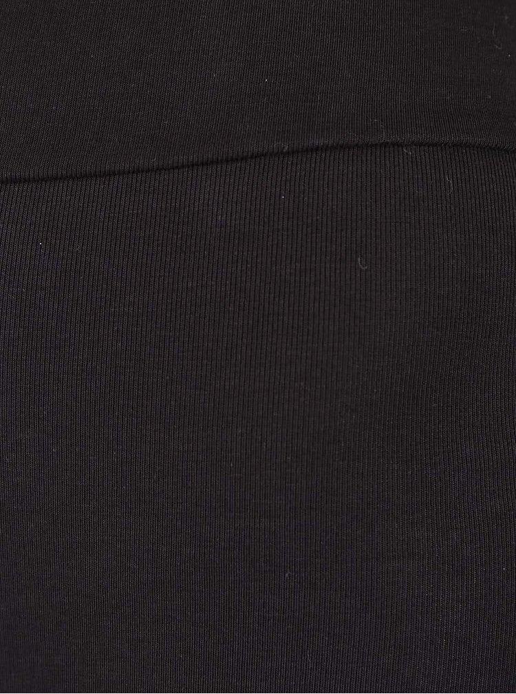 Colanți trei sferturi negrii Quontum cu benzi transparente