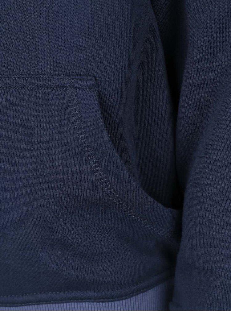 Modrá chlapčenská mikina na zips name it Keenan