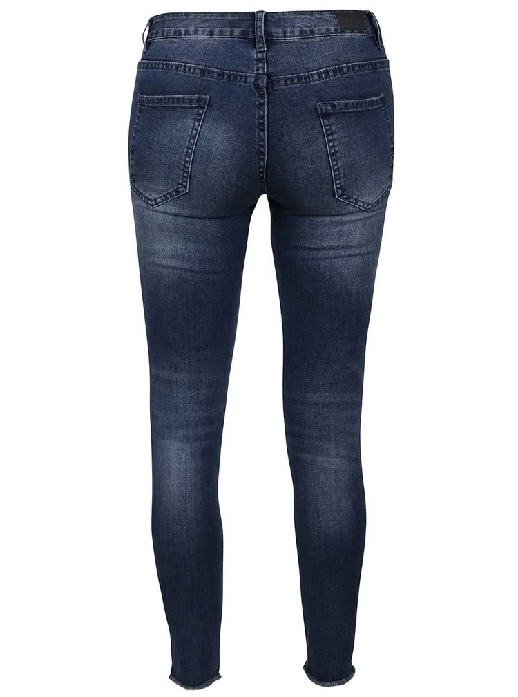 Modré džíny s roztřepenými nohavicemi Haily´s Ina
