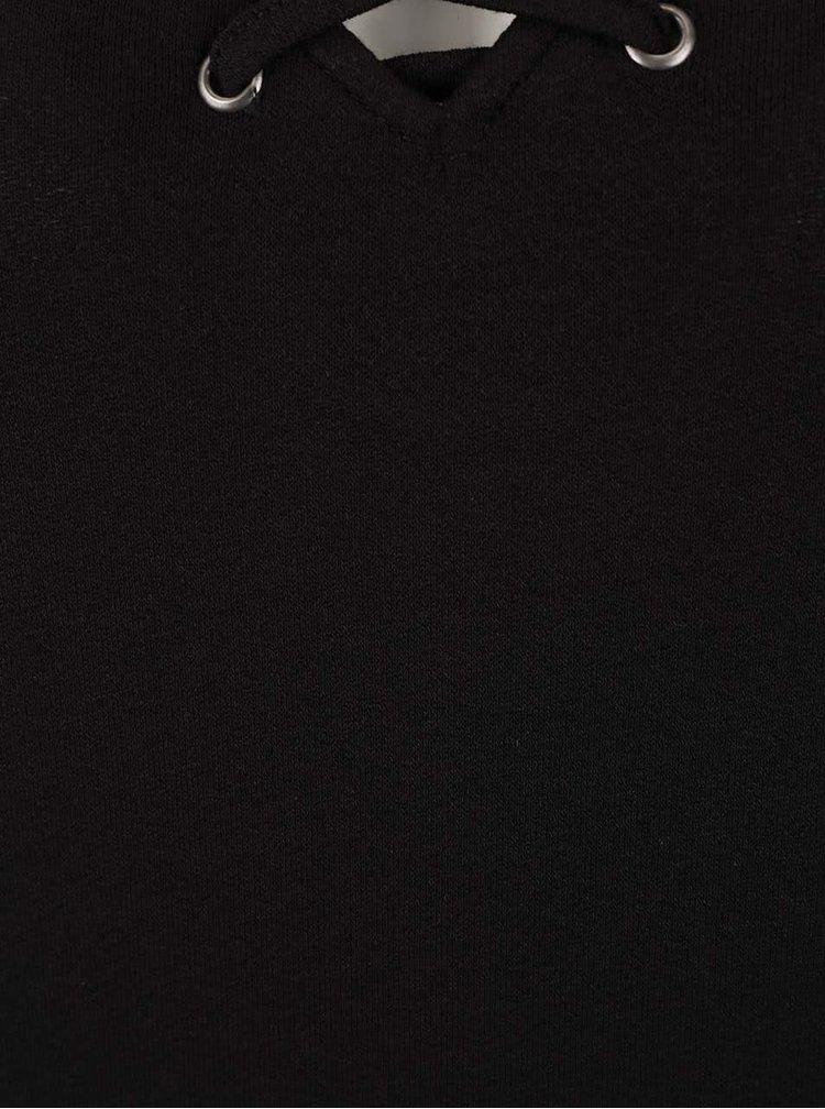 Tricou negru VERO MODA Fine cu decolteu în v