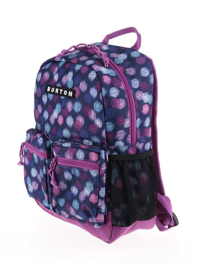 Modro-fialový holčičí batoh s puntíky Burton Gromlet