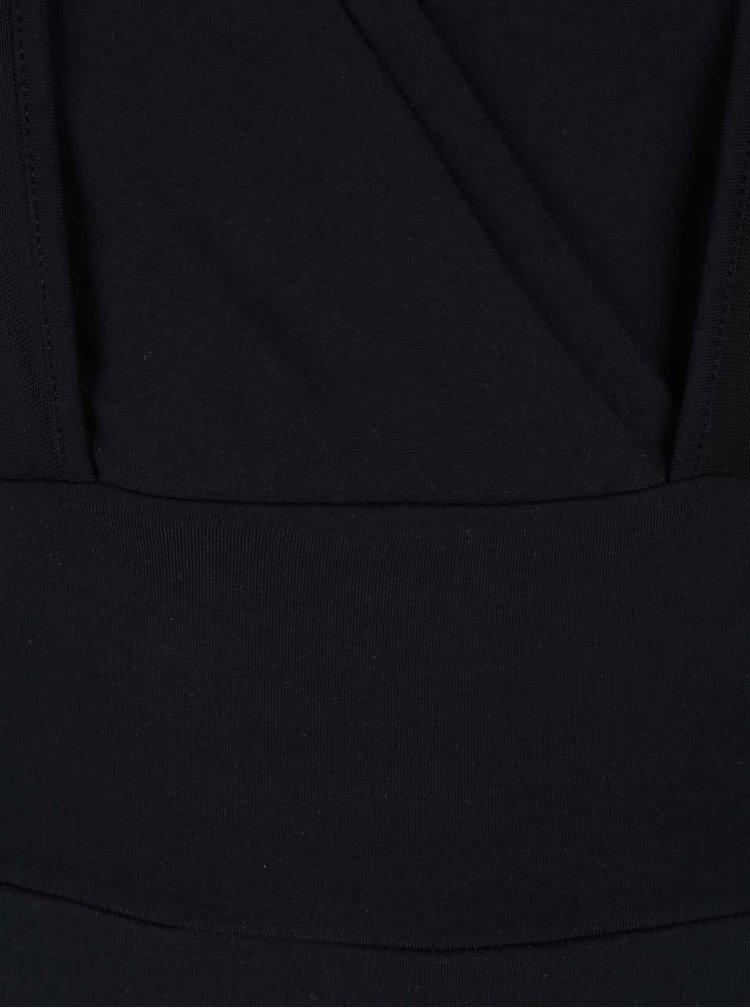 Černé sportovní body se síťovanými rukávy a zády Quontum