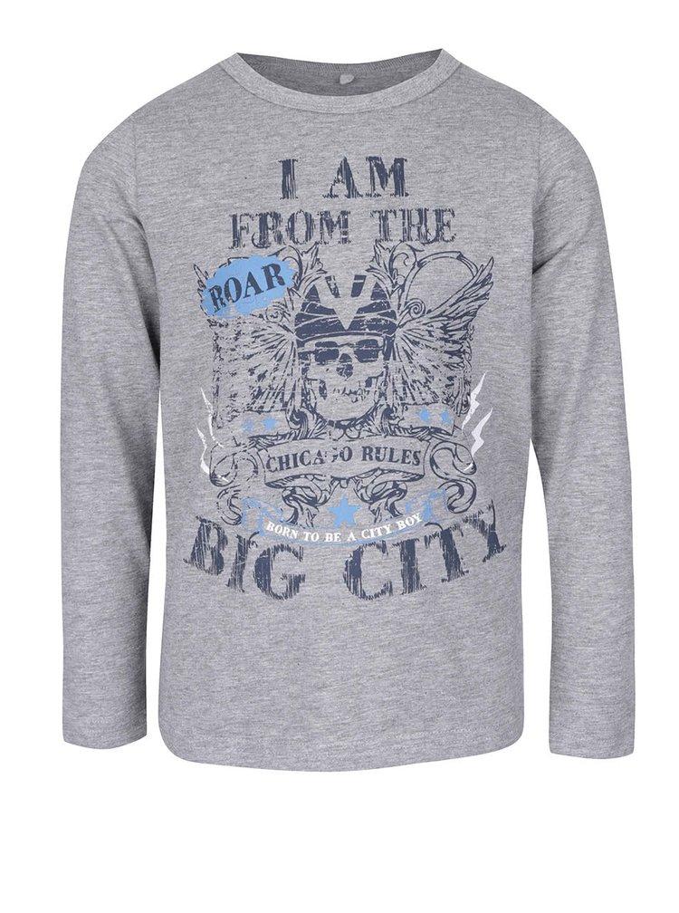Sivé chlapčenské tričko s dlhým rukávom name it Vix