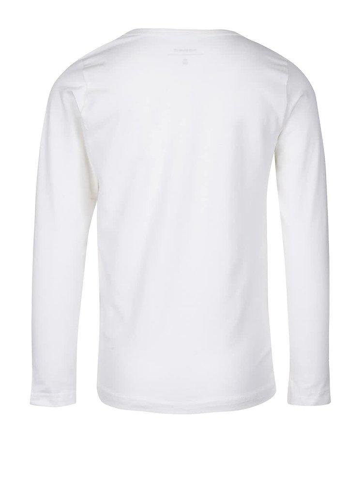Krémové klučičí triko s dlouhým rukávem name it Vix