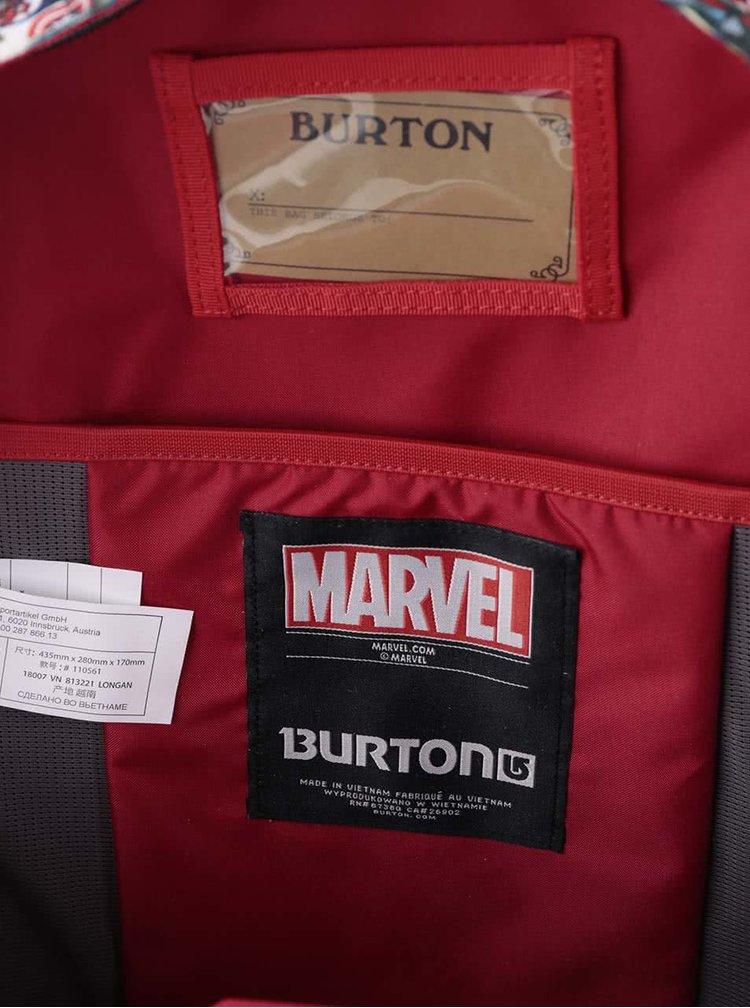 Rucsac negru băieți Burton Hiker cu imprimeu Marvel