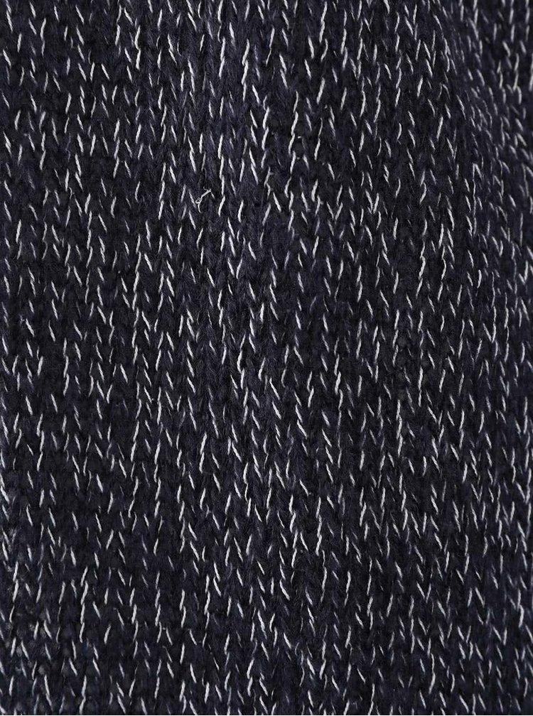 Tmavě modrý žíhaný dlouhý kadrigan VERO MODA Jive