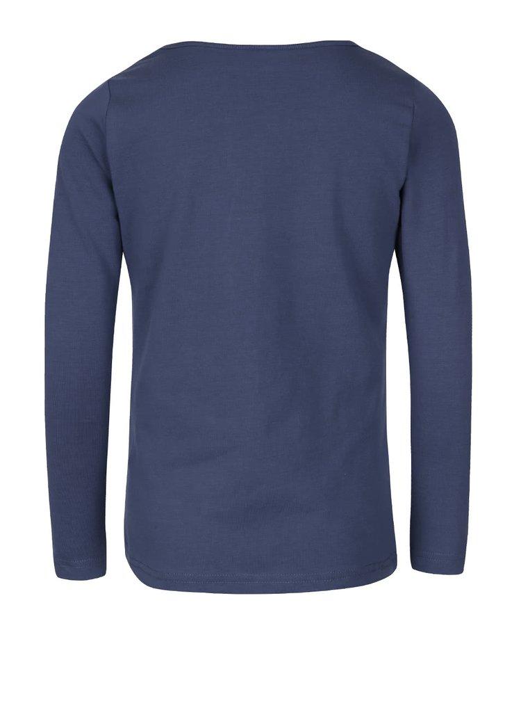 Modré holčičí tričko s dlouhým rukávem name it Vix