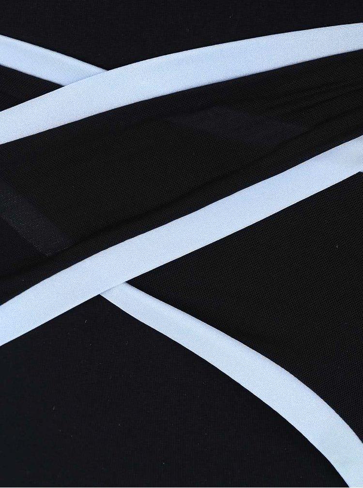 Čierne športové body s ozdobnými pruhmi Quontum