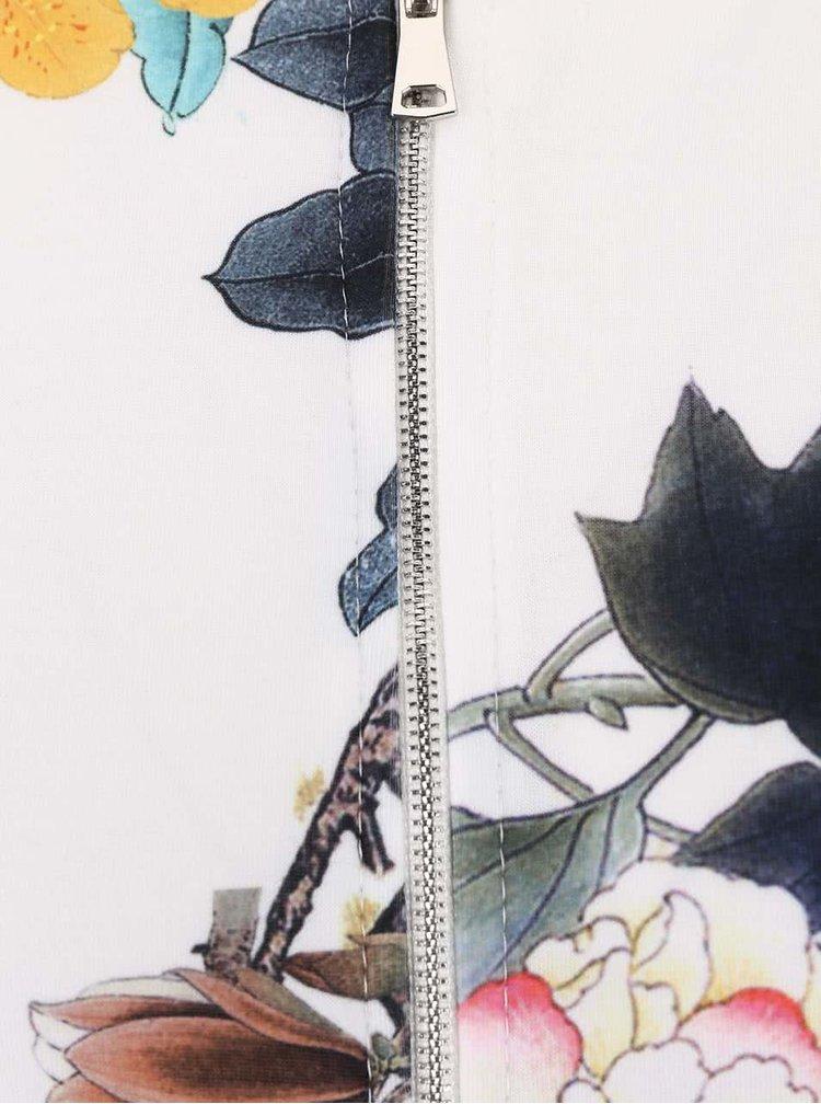 Krémová bomber mikina s květovaným vzorem Haily´s Nicola
