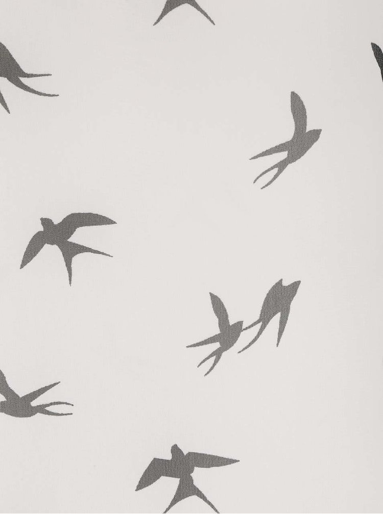 Krémová průhledná halenka s potiskem ptáčků Haily´s Venus