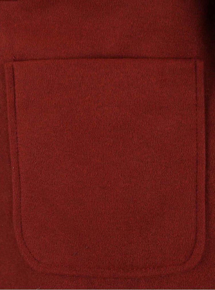 Tehlový kratší kabát s kapucňou VERO MODA Modaliga