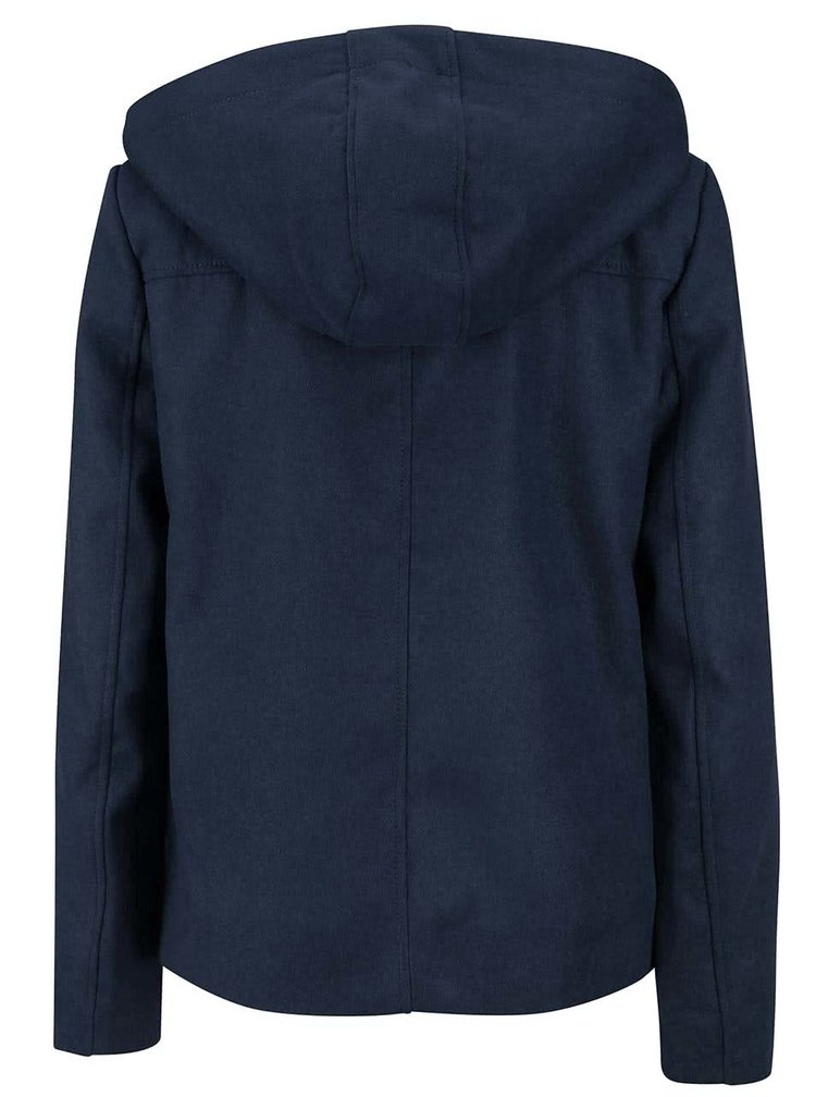 Tmavě modrý kratší kabát s kapucí VERO MODA Modaliga