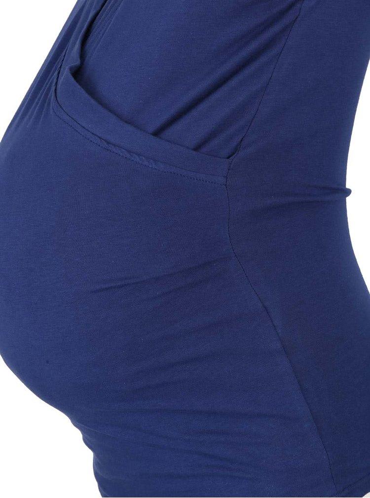 Tmavomodrý tehotenský/dojčiaci top Mama.licious Kamina