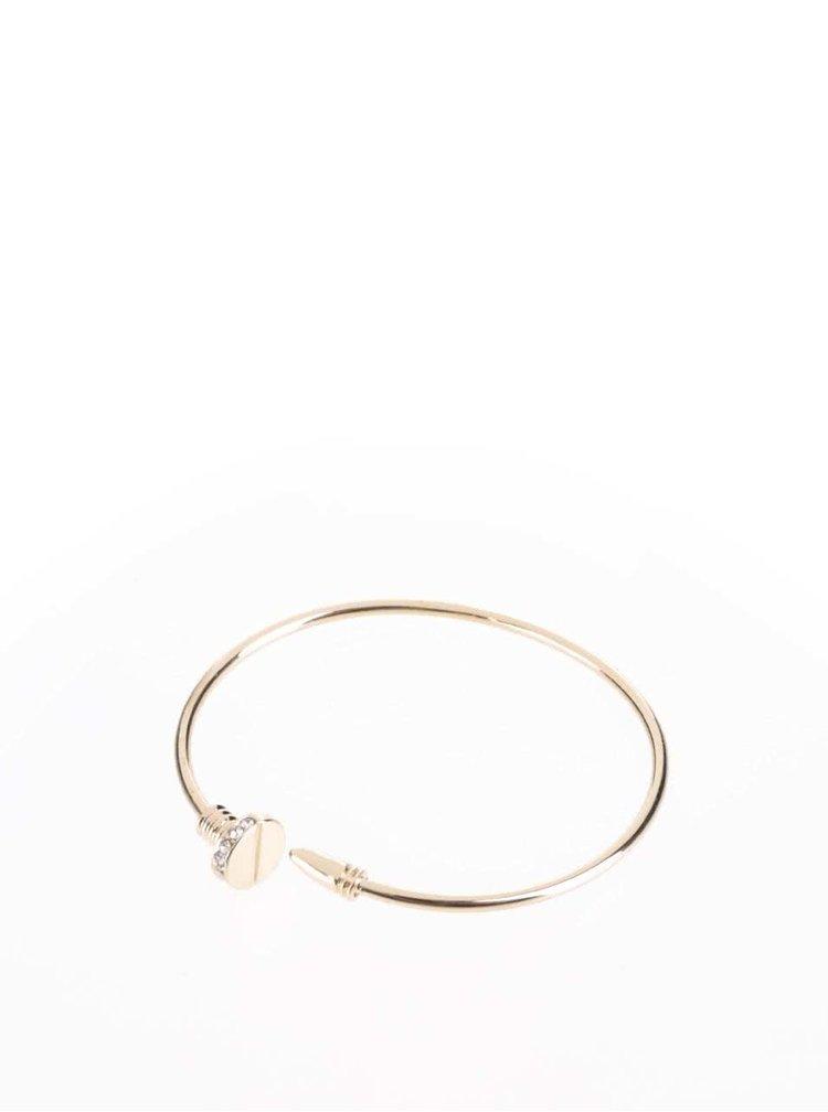Náramek ve zlaté barvě ve tvaru šroubku Haily´s
