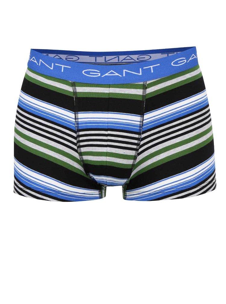 Sada dvou boxerek v modré a pruhované barvě GANT