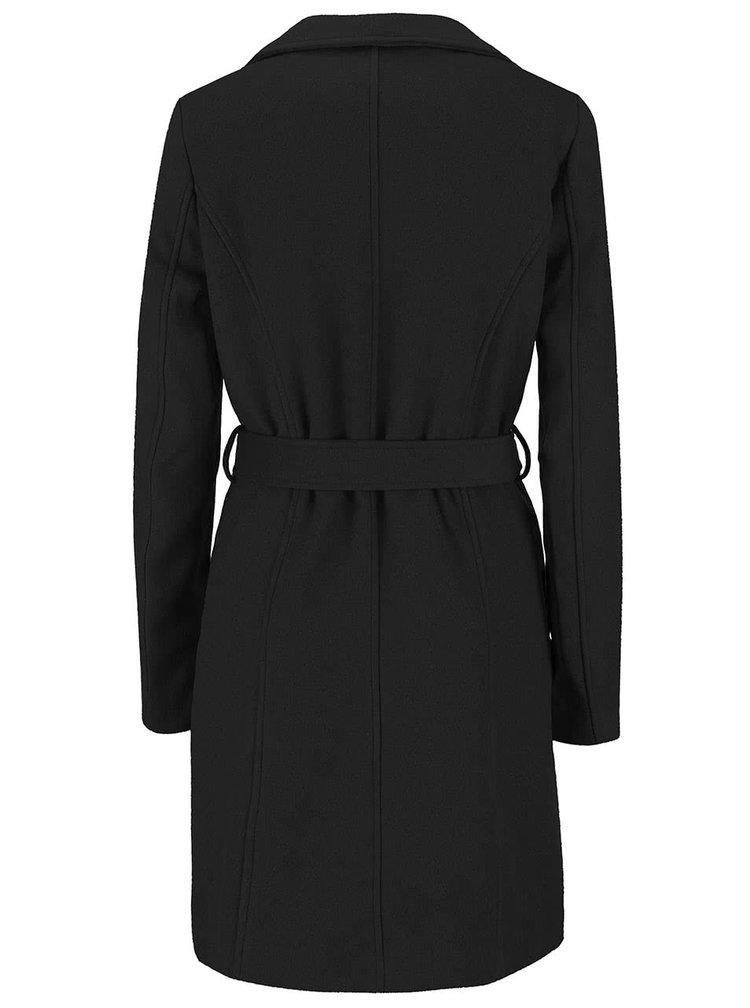 Čierny kabát s opaskom VILA Director