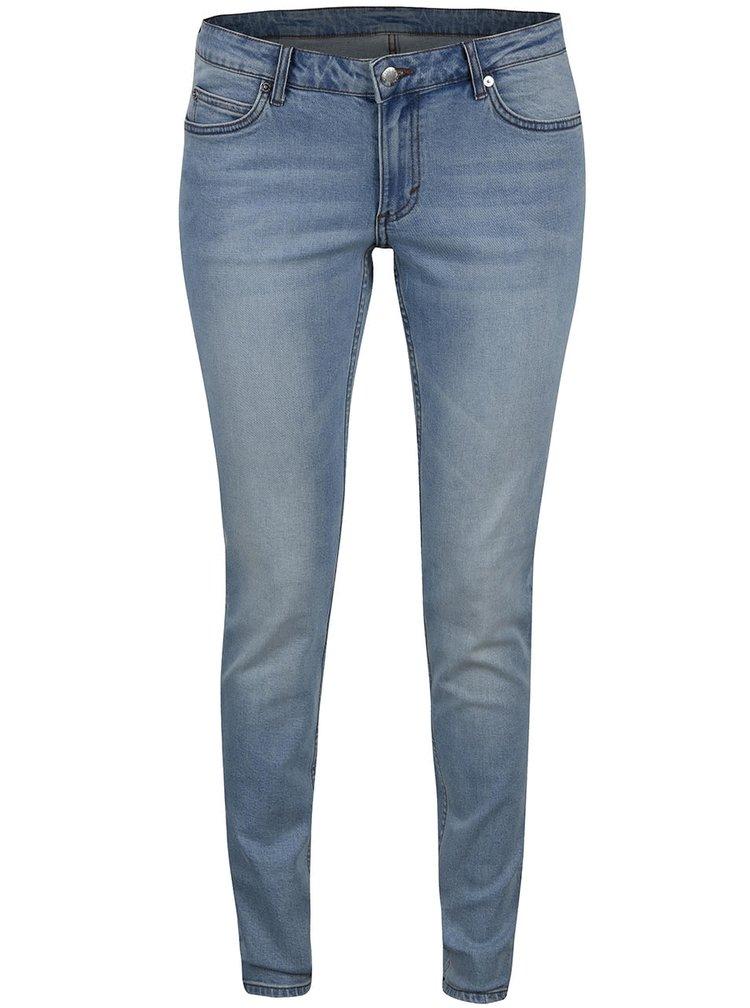 Modré dámské slim džíny s opraným efektem Cheap Monday