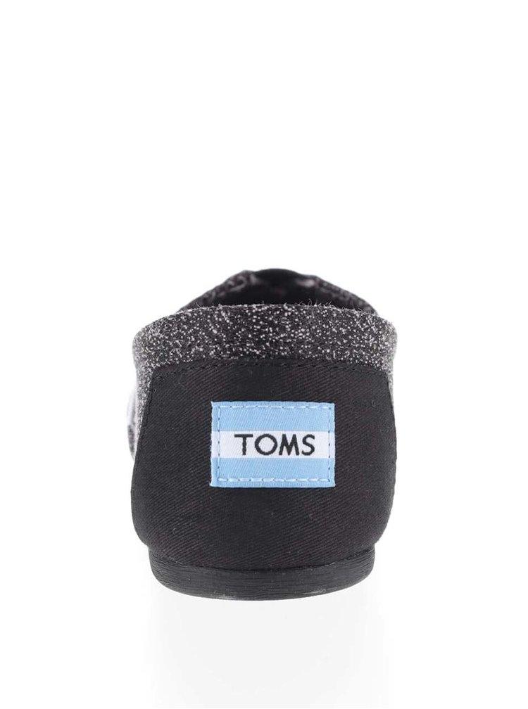 Čierne dámske melírované loafers Toms