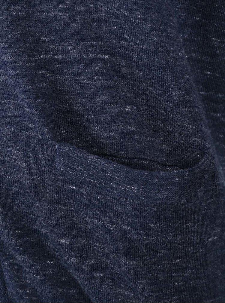 Cardigan bleumarin din bumbac Jack & Jones Duncan cu model discret