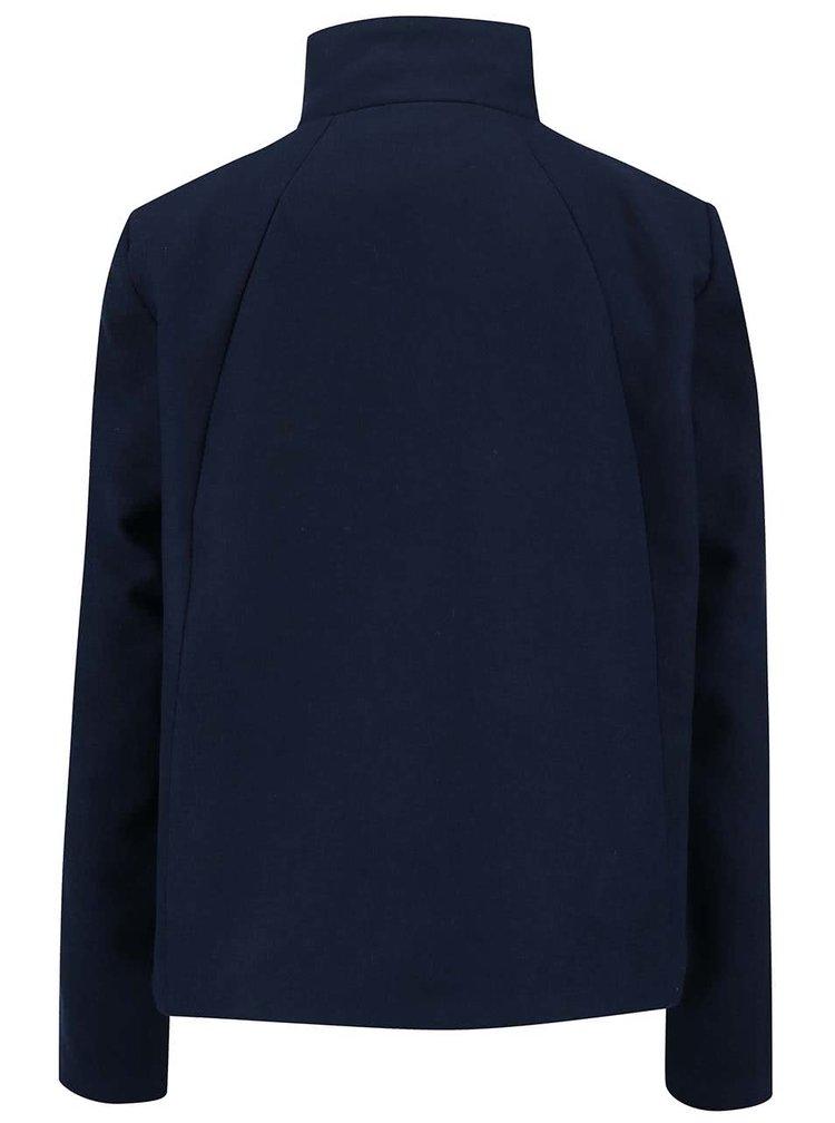 Tmavě modrý kratší kabát se stojáčkem VILA Kimra