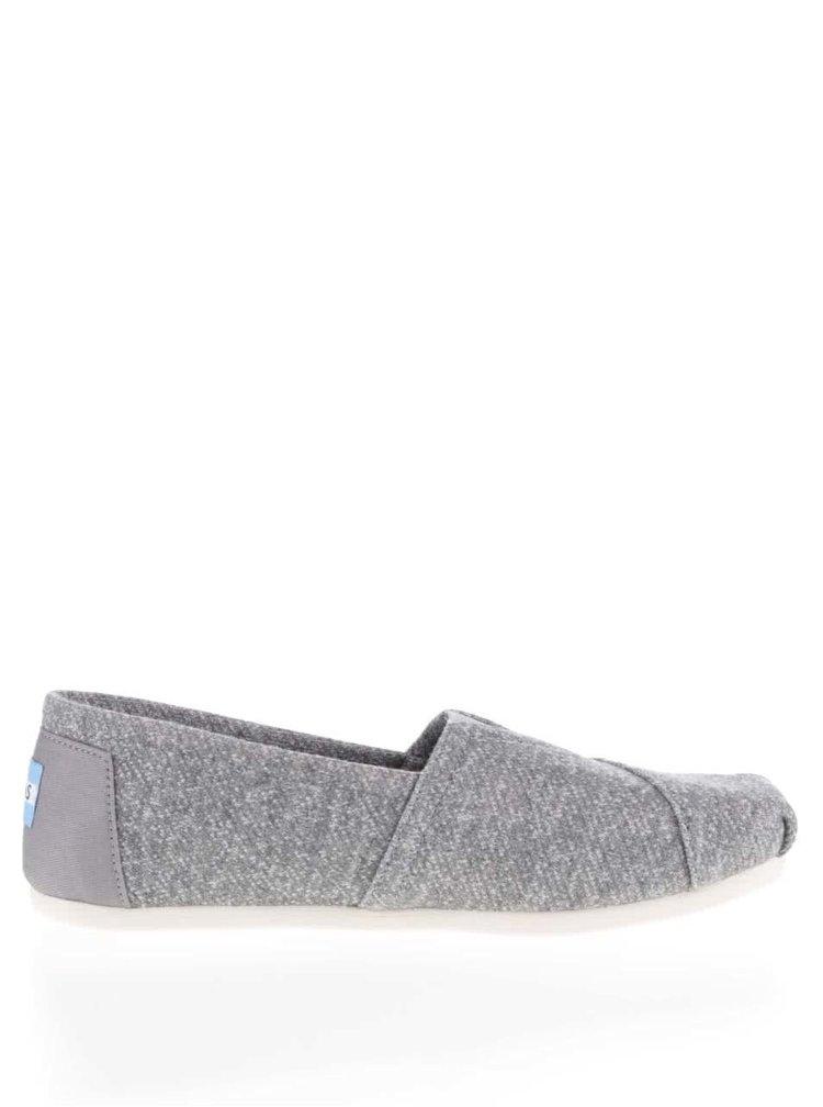Šedé dámské žíhané loafers TOMS