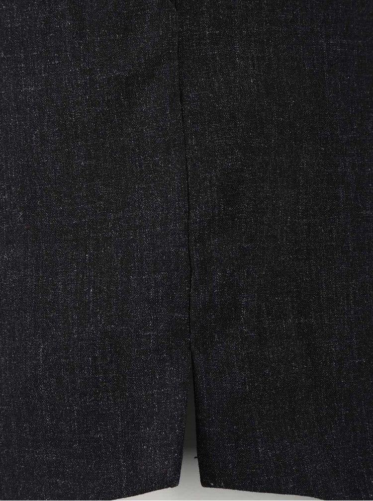 Tmavě šedé žíhané kraťasy VILA Earl