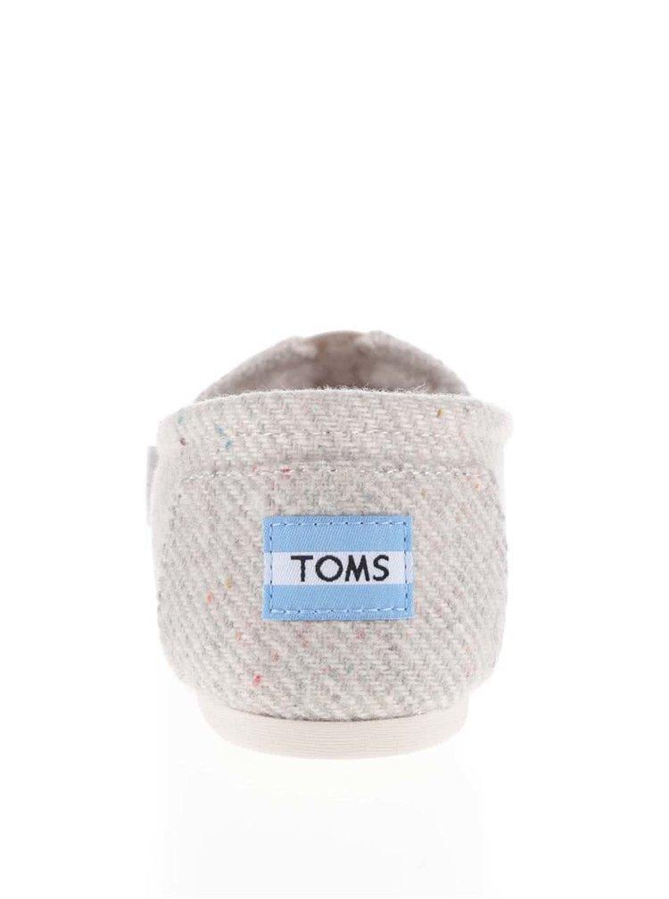 Krémové dámske loafers s kožúškom Toms