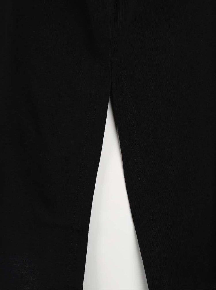 Top negru din bumbac Cheap Monday Grip cu logo print