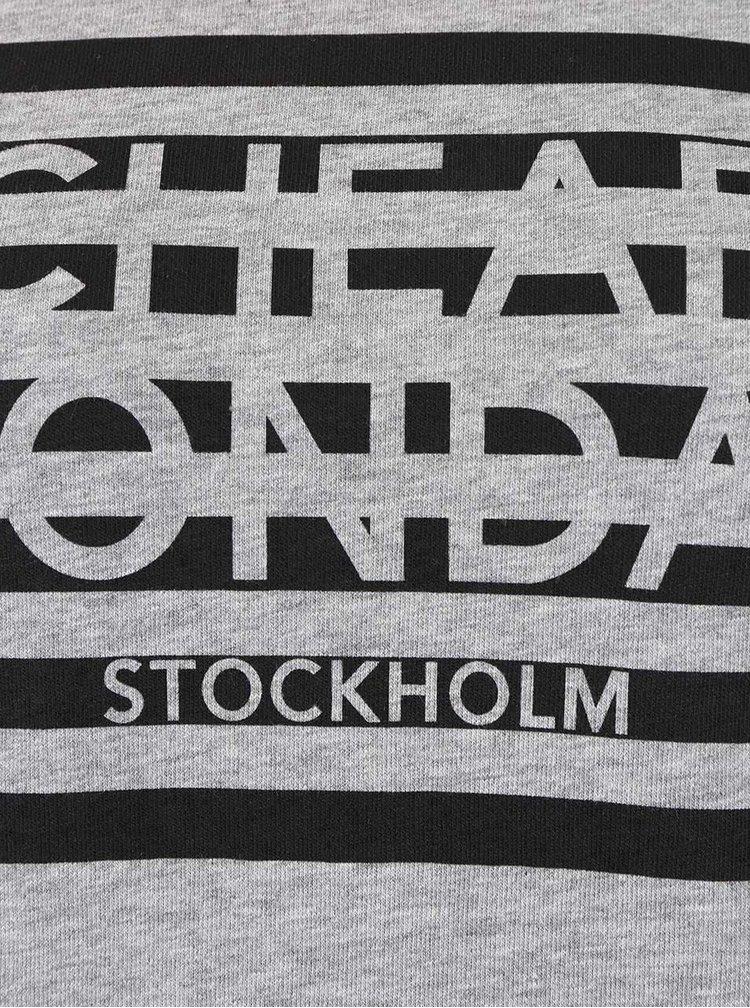 Bluza sport gri Cheap Monday Win cu print