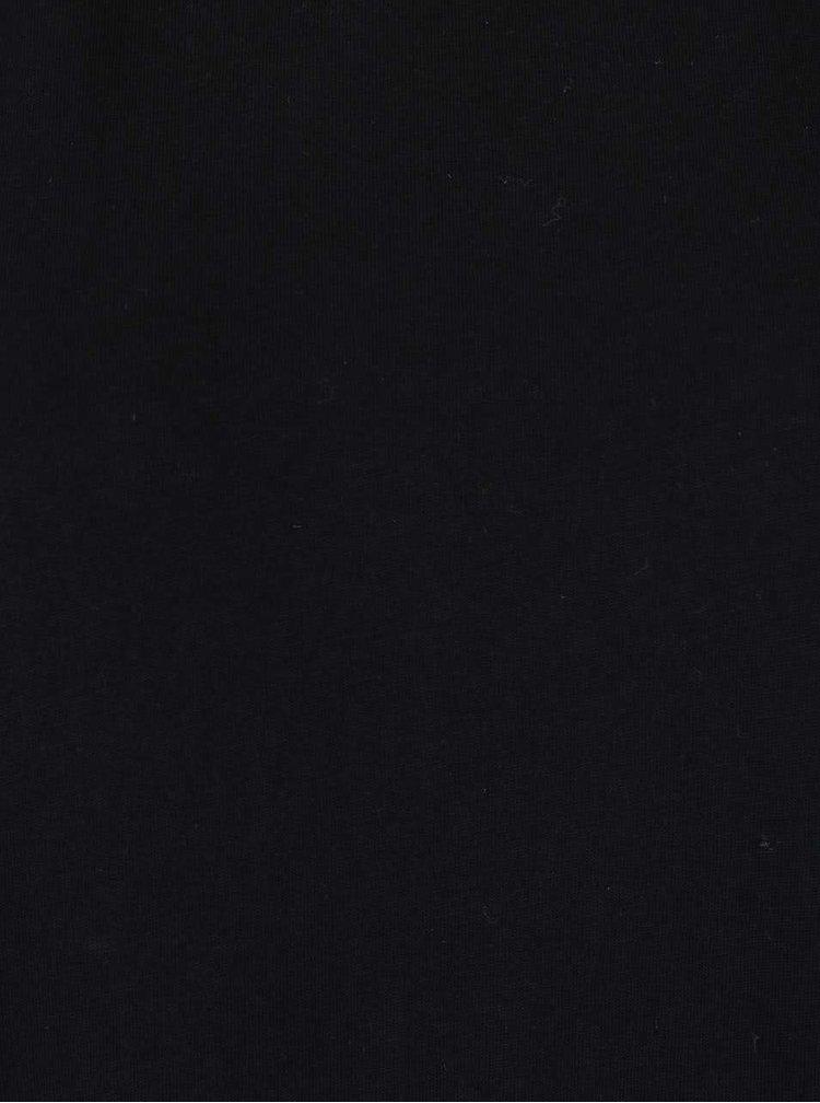 Rochie neagra din bumbac Cheap Monday Strict cu maneci lungi