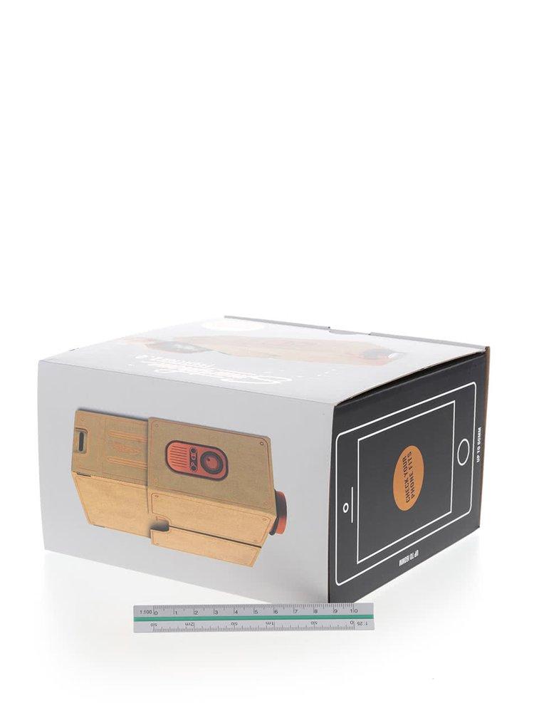 Světle hnědý projektor na mobil Luckies