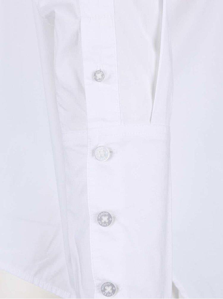 Biela dámska oversize asymetrická košeľa Cheap Monday Force