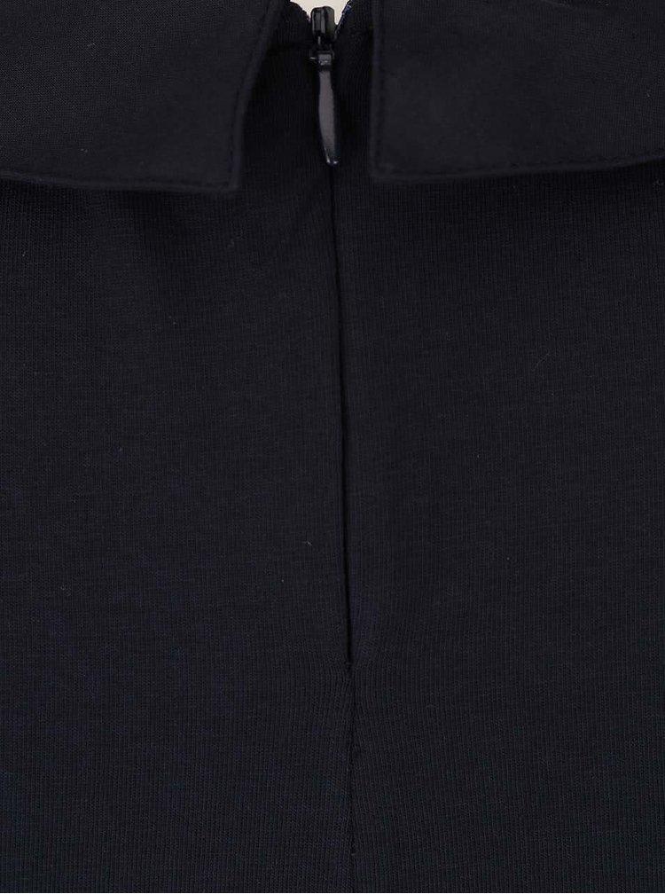 Tmavomodré šaty s okrúhlym golierom ONLY Niella
