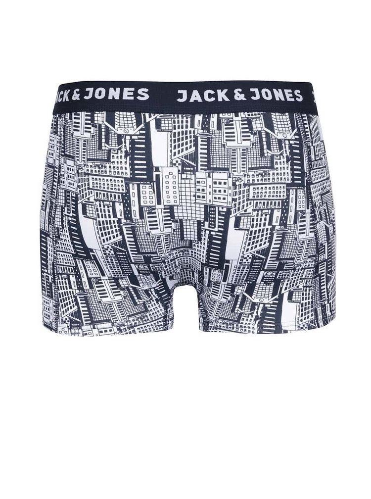 Sada tří boxerek v bílo-modré barvě Jack & Jones Cambridge