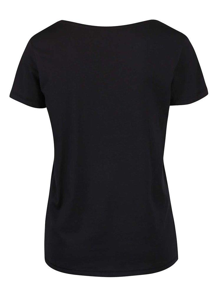 Tricou negru din bumbac ONLY Cotton