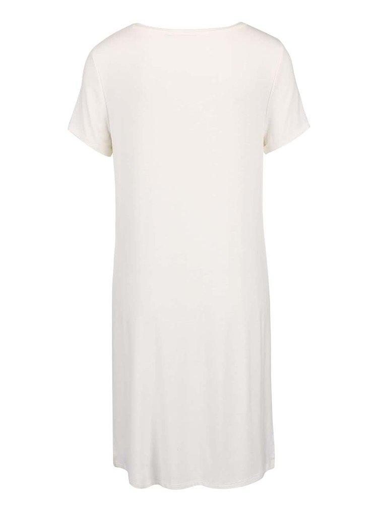 Krémové dlhé tričko s potlačou ONLY Helena