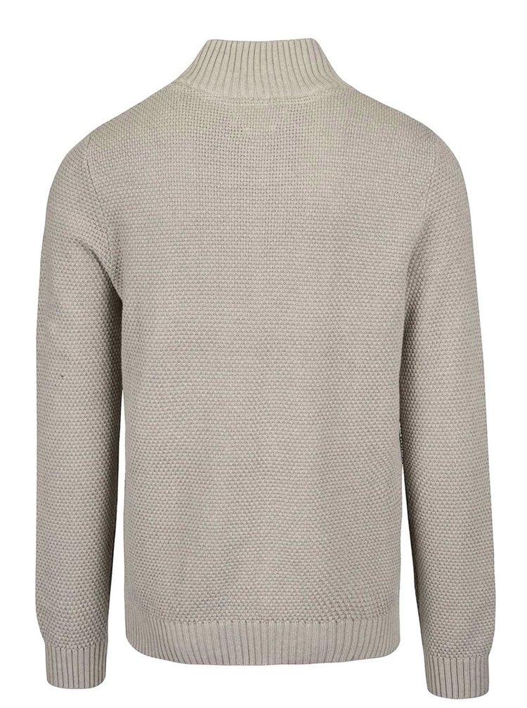 Béžový sveter s golierom Jack & Jones Tobias