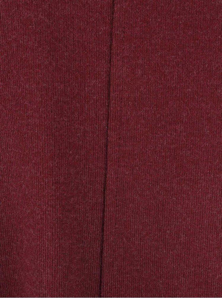 Vínové volnější šaty s dlouhým rukávem VILA Nimas