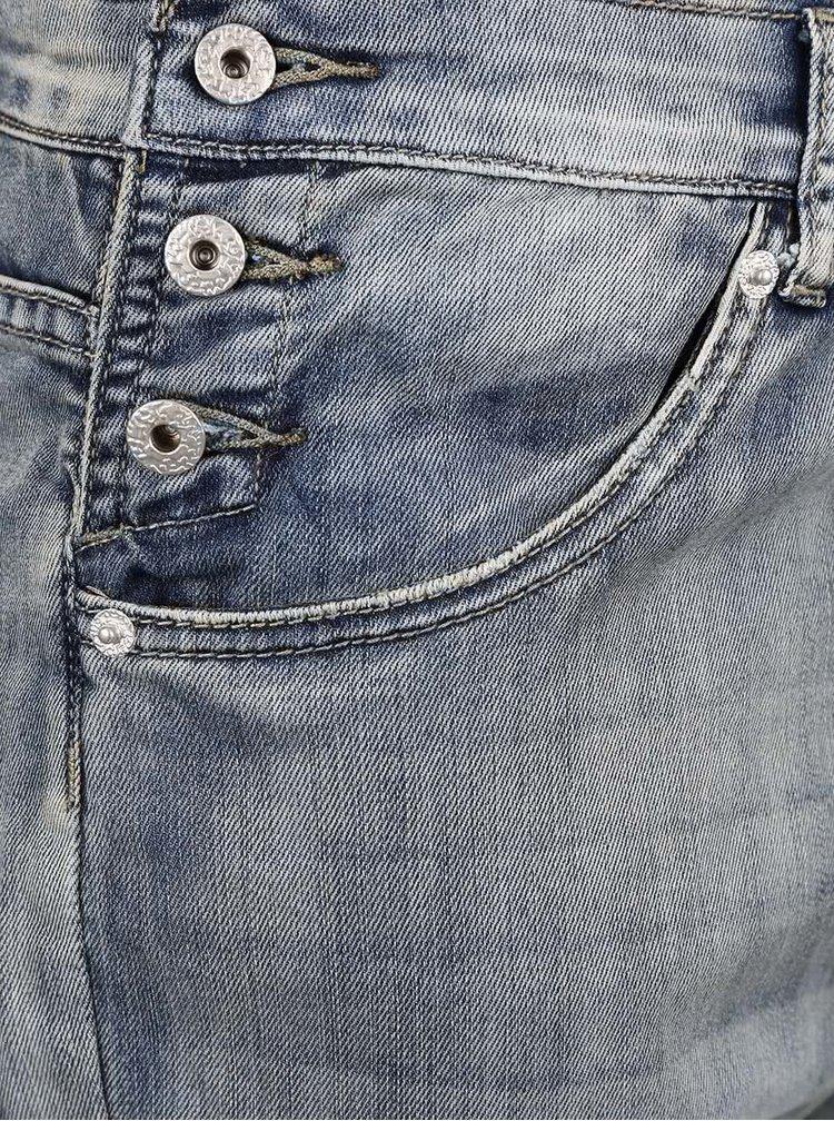 Světle modré džínové vyšisované lacláče ZOOT Now