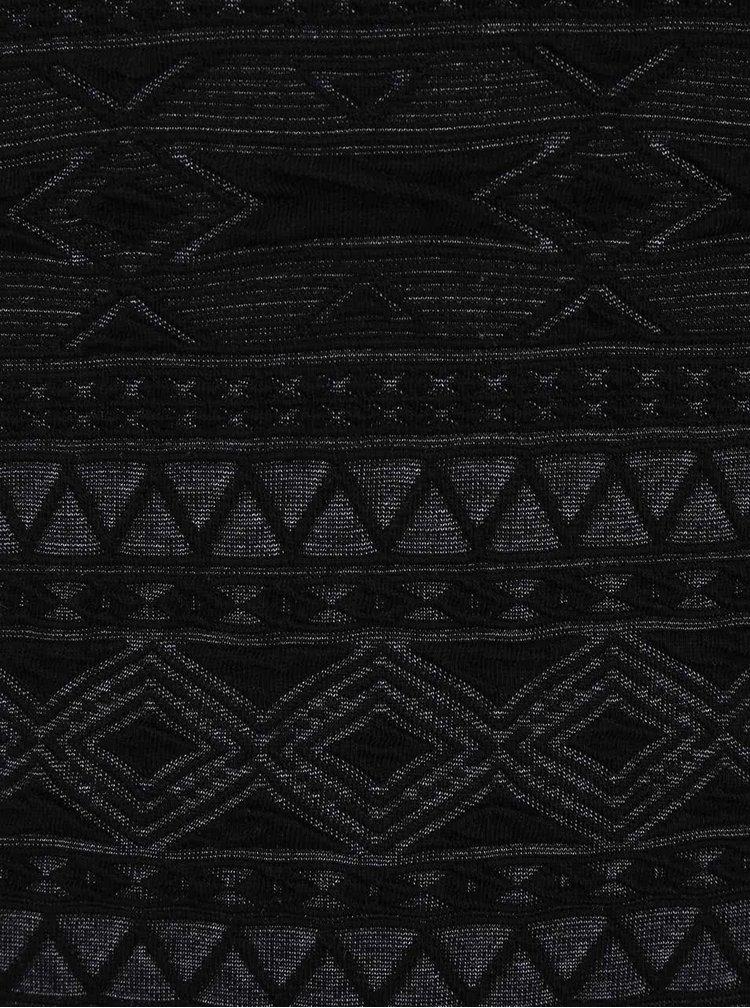 Černé vzorované šaty ONLY New Vigga