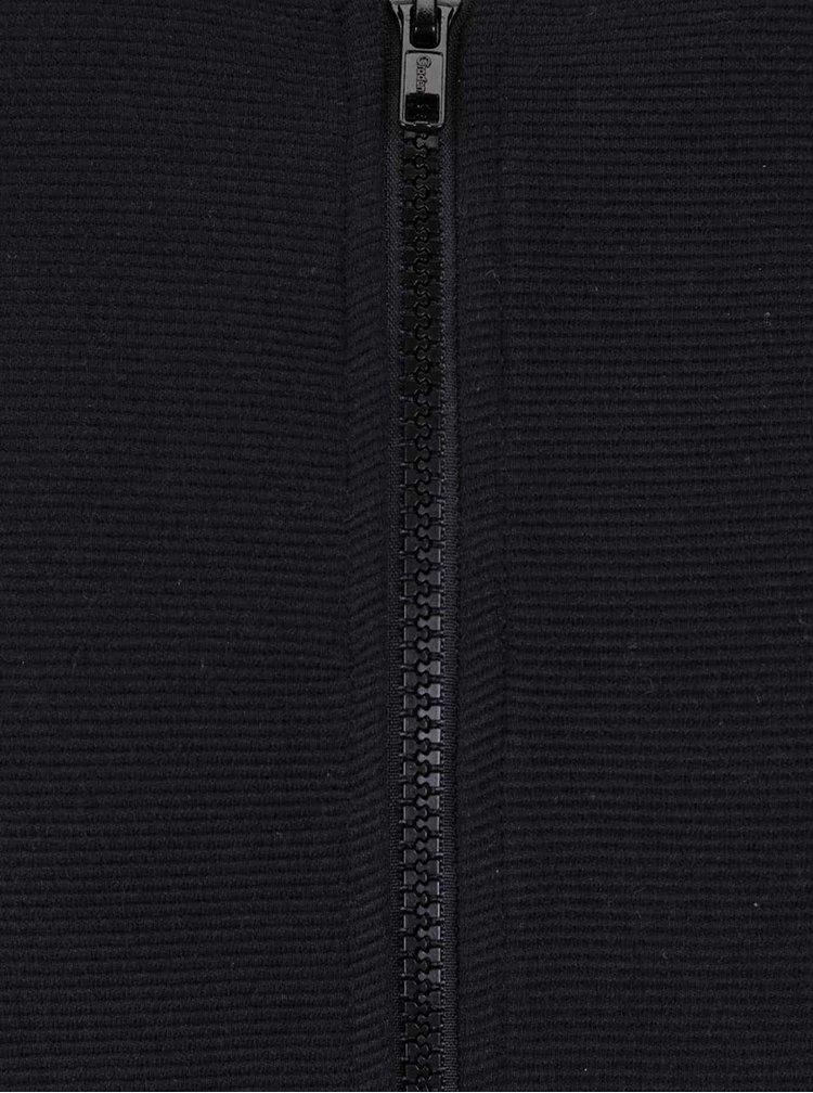Černá pánská mikina na zip bez kapuce Broadway Neely