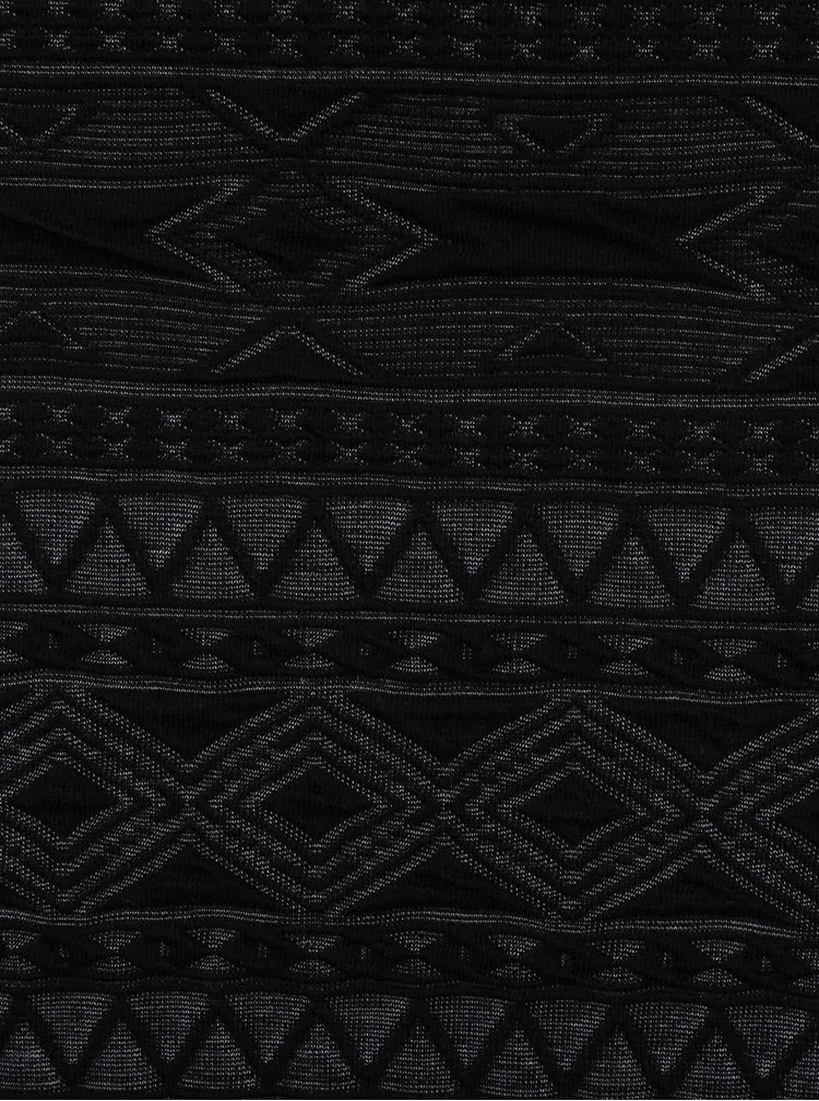 Černá vzorovaná sukně ONLY New Vigga