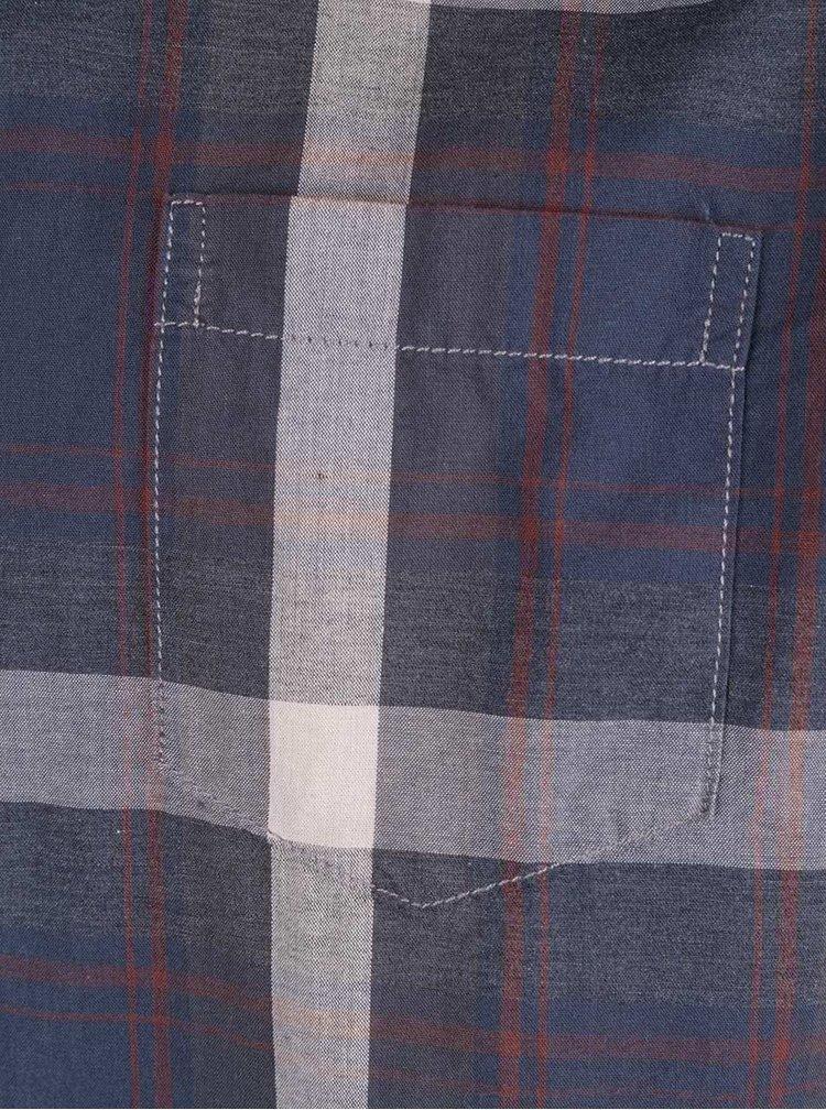 Tmavě modrá pánská kostkovaná košile Broadway Oryl