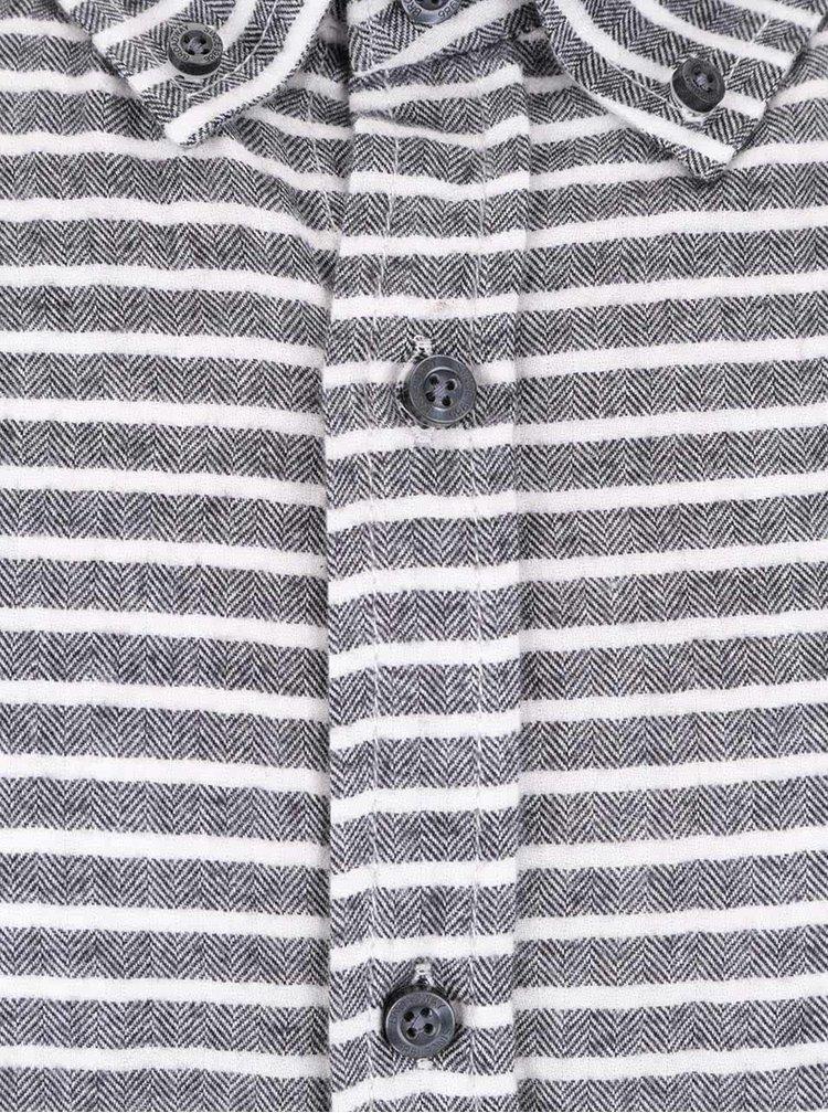 Šedá pánská pruhovaná košile Broadway Orvil