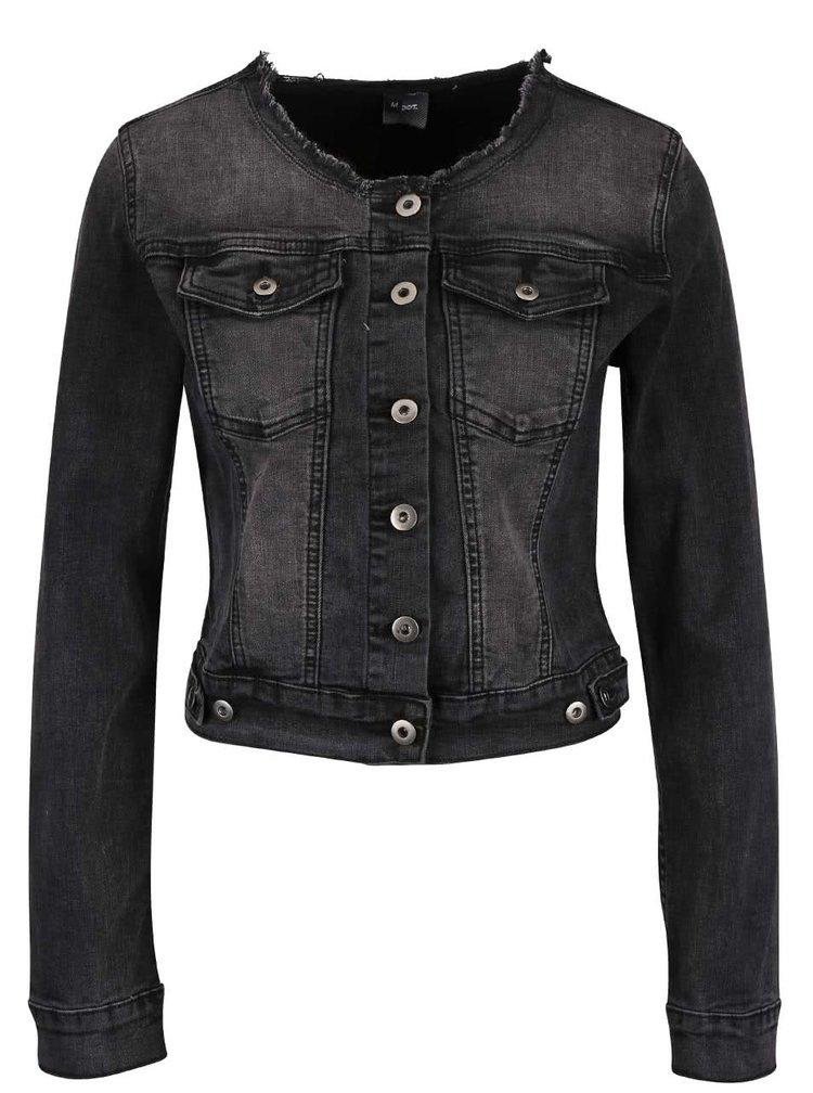 Jachetă gri închis din denim ZOOT Now cu aspect prespălat