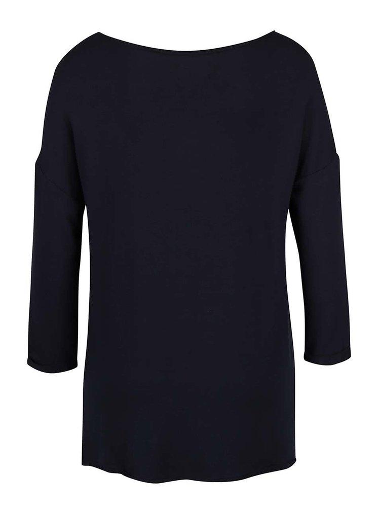 Tmavomodré tričko s 3/4 rukávmi ONLY Clara