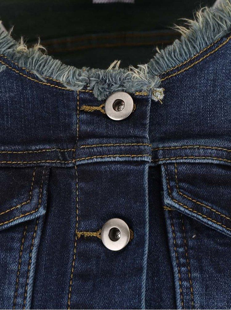 Jachetă bleumarin din denim ZOOT Now cu aspect prespălat