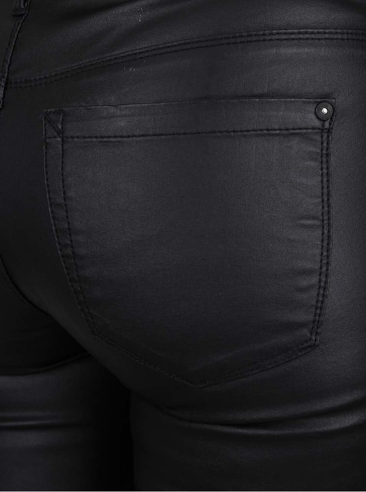 Čierne koženkové nohavice ONLY Royal Ro