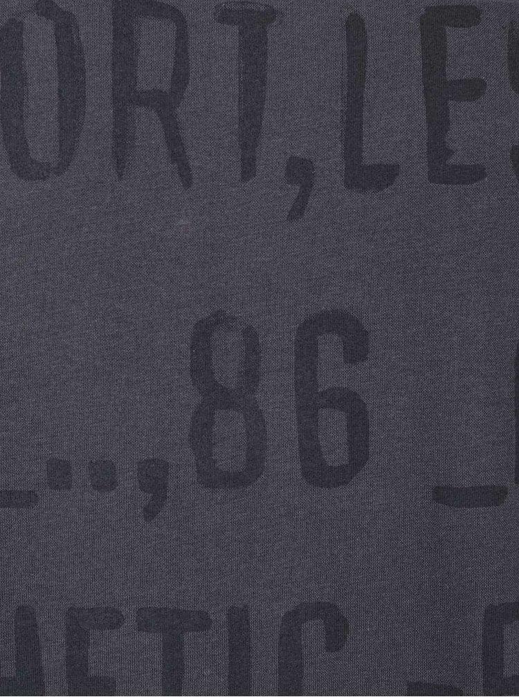 Tmavosivé pánske tričko s potlačou Broadway Bennie